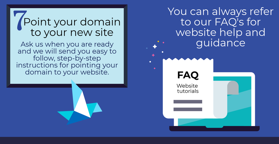 7. point your domain to your new site,