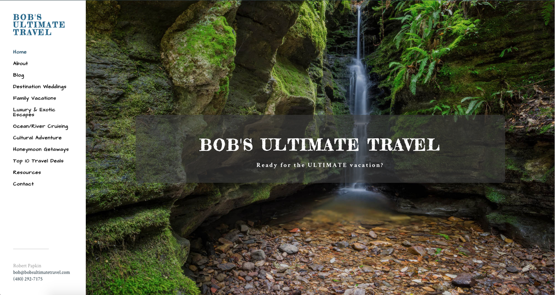 Bob's Ultimate Travel home page